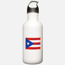 Puerto Rico New York Flag Lady Liberty Water Bottl
