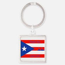Puerto Rico New York Flag Lady Liberty Keychains