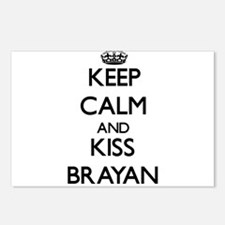 Keep Calm and Kiss Brayan Postcards (Package of 8)