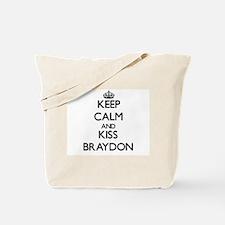 Keep Calm and Kiss Braydon Tote Bag