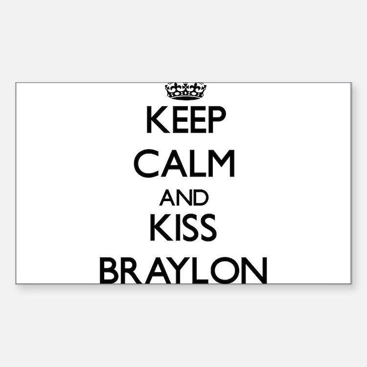 Keep Calm and Kiss Braylon Decal