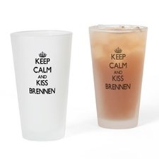 Keep Calm and Kiss Brennen Drinking Glass