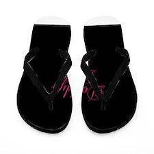 Daddys Little Girl Pink on Black Flip Flops