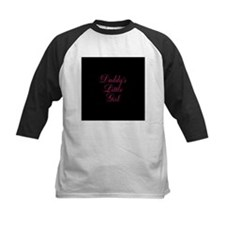 Daddys Little Girl Pink on Black Baseball Jersey