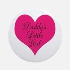Daddys Little Girl Pink Small Ornament (Round)