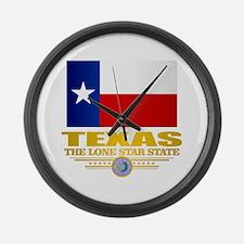 Texas (flag 15) Large Wall Clock