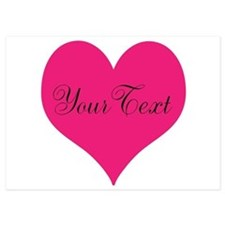 Personalizable Pink and Black Heart Invitations