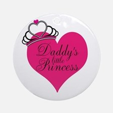 Daddys Little Princess Ornament (Round)