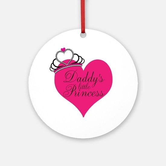 Daddys Little Princess Ornament (Round)