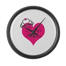 Daddys Little Princess Large Wall Clock