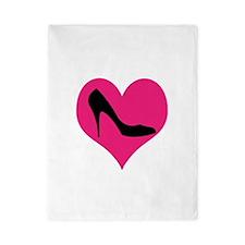 High Heel Love in Pink and Black Twin Duvet