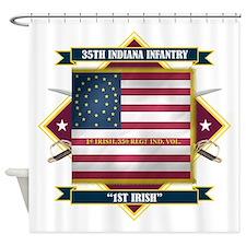 35th Indiana -1st Irish (Diamond).png Shower Curta