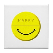 Happy Pill Tile Coaster