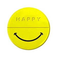 """Happy Pill 3.5"""" Button (100 pack)"""