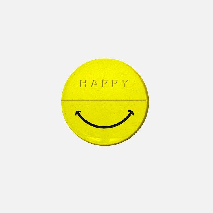 Happy Pill Mini Button