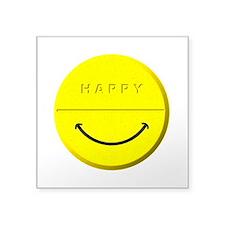 """Happy Pill Square Sticker 3"""" x 3"""""""