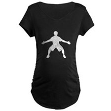 Distressed Basketball Defender Silhouette Maternit