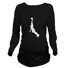 Distressed Basketball Dunk Silhouette Long Sleeve