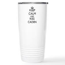 Keep Calm and Kiss Caden Travel Mug