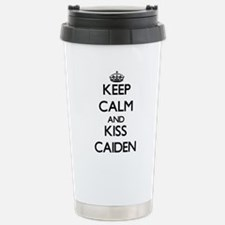 Keep Calm and Kiss Caiden Travel Mug