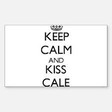 Keep Calm and Kiss Cale Decal