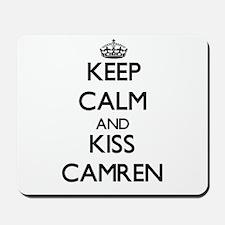 Keep Calm and Kiss Camren Mousepad