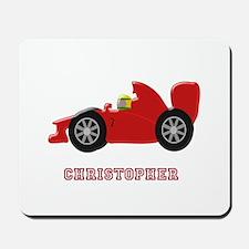 Personalised Red Racing Car Mousepad