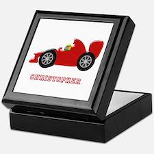 Personalised Red Racing Car Keepsake Box