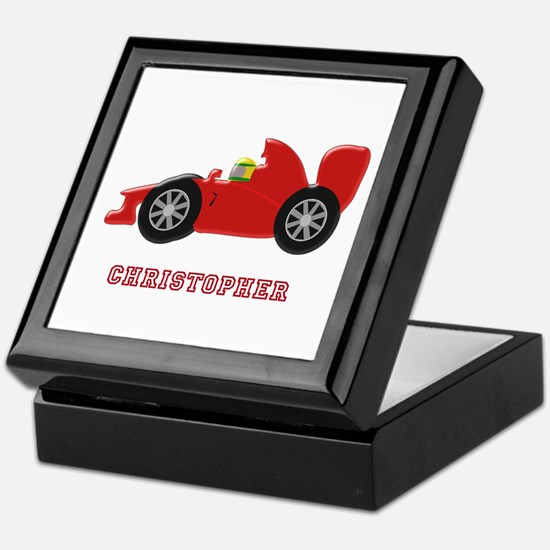 Personalised Red Racing Car Keepsake Box