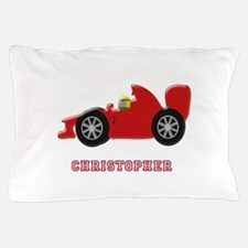 Personalised Red Racing Car Pillow Case
