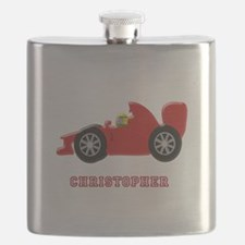 Personalised Red Racing Car Flask