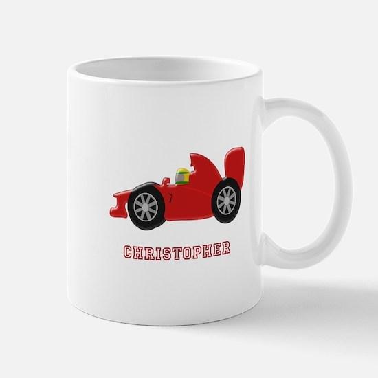 Personalised Red Racing Car Mugs