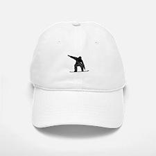 Distressed Snowboarder Silhouette Baseball Baseball Baseball Cap