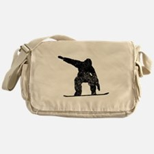 Distressed Snowboarder Silhouette Messenger Bag