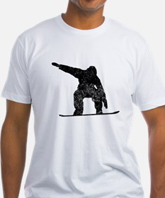 Distressed Snowboarder Silhouette T-Shirt