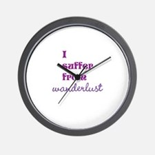 I Suffer from Wanderlust Wall Clock