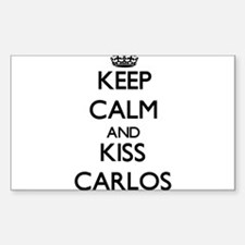 Keep Calm and Kiss Carlos Decal