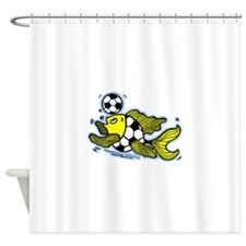 Football Fish Shower Curtain
