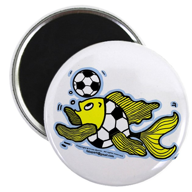 Football Fish Magnets by FabSpark_Football_Fish