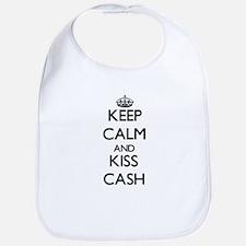 Keep Calm and Kiss Cash Bib