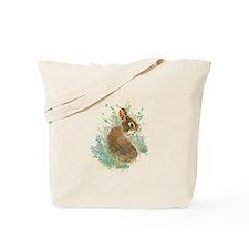 Cute Watercolor Bunny Rabbit Pet Animal Tote Bag