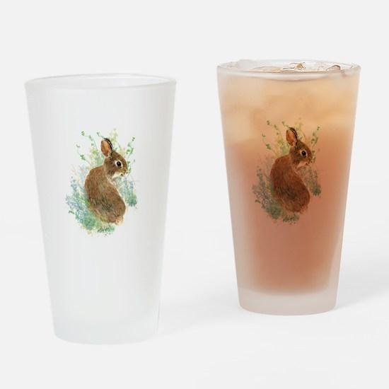 Cute Watercolor Bunny Rabbit Pet Animal Drinking G