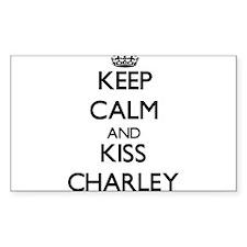 Keep Calm and Kiss Charley Decal