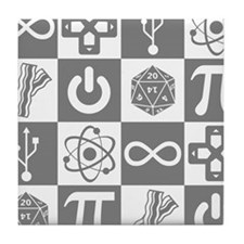 Geek Symbols Tile Coaster
