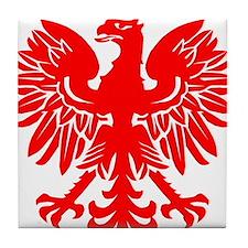 Polish Eagle Red Tile Coaster