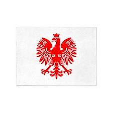 Polish Eagle Red 5'x7'Area Rug