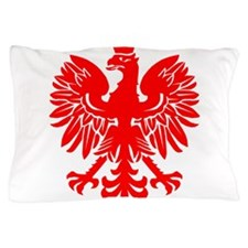 Polish Eagle Red Pillow Case