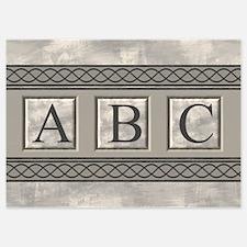 Personalizable Marble Monogram Invitations