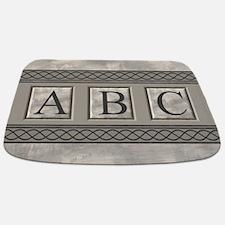 Personalizable Marble Monogram Bathmat