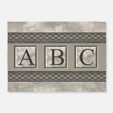 Personalizable Marble Monogram 5'x7'Area Rug